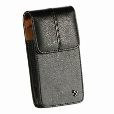 for Samsung Galaxy S5 / S6 / S7 - VERTICAL Leather Pouch Belt Clip Holster Case