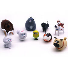 9pcs The Secret Life of Pets MEL BUDDY CHLOE Animal Figure PVC Toy Kids Gift