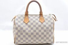 Authentic Louis Vuitton Damier Azur Speedy25 Hand Bag LV 28100