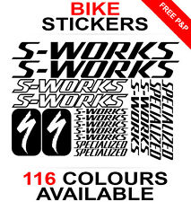 S-Works Specialized decals stickers sheet (cycling, mtb, bmx, road bike) die-cut
