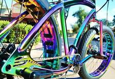 Fat Tire Beach Cruiser Bike - SOUL STOMPER - OIL SLICK CHROME 3 speed - NEW!!