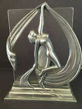 Vintage Art Deco Table Lamp Nude Woman Accent