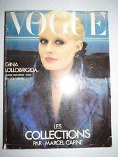Magazine VOGUE PARIS mode French #589 septembre 1978 Collections - Lollobrigida