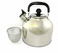 Stainless Steel Large 6.3 Liter 7 Quart Whistling Teakettle Pot infuser WK1924