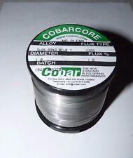 NEW COBAR COBARCORE SOLDER TIN/SILVER/COPPER 1 MM DIAMETER C395 FLUX