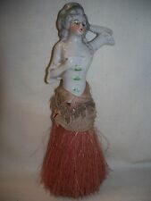 "ANTIQUE VICTORIAN PORCELAIN HALF DOLL WHISK BRUSH - 8 1/4"" TALL"