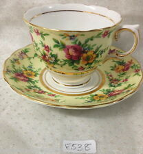 ✿•*¨*•✿ COLCLOUGH ENGLAND DUO CHINTZ TEA CUP & SAUCER  C762