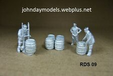 00/4MM JOHN DAY WHITE METAL FIGURES ,**NEW**  DRAY MEN  SCENE