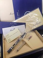 New Montegrappa Euro 2002 Sterling Silver Ballpoint Pen Box & Papers