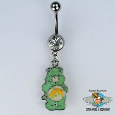 Wish Bear Dangle Belly Ring Bar Shooting Star Care Bear Navel Ring 14G