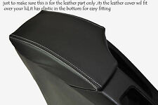 WHITE STITCHING FITS SEAT TOLEDO 2004-2008 LEATHER ARMREST SKIN COVER ONLY