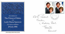 22 JULY 1981 ROYAL WEDDING POST OFFICE FIRST DAY COVER TAUNTON SOMERSET FDI