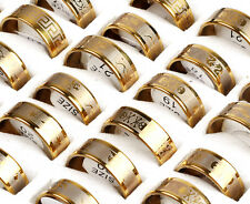 18x/Lot Fashion Silver Stainless Steel Rings Wholesale Bulk Lots Men's Jewelry