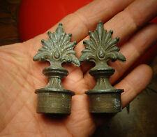 2) Ancienne Mouchette Régul Ancien Bougeoir Chandelier Bronze Eteignoir à Bougie