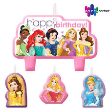 DISNEY PRINCESS BIRTHDAY PARTY SUPPLIES CANDLE MINI MOULDED PACK OF 4