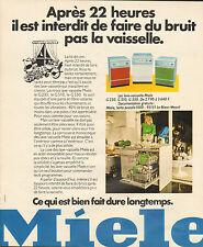 Publicité 1973  MIELE lave vaisselle