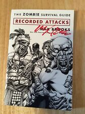 SIGNED Max Brooks The Zombie Survival Guide Recorded Attacks GN SC 1st + Pic