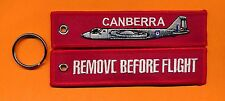 Canberra Remove Before Flight embroidered key ring/ tag - New