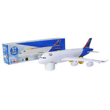 Electric Moving Airplane + Flashing Light Sound Kids Toy Aircraft Aeroplane Gift