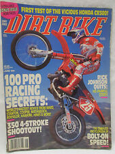 Dirt Bike Magazine June 1991 First Test Honds CR300 100 Pro Racing Secrets