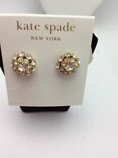 $48 Kate Spade 12k Gold Plated Crystal Ball Stud Earrings #129