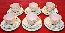 """18 Piece ENGLAND ROYAL ALBERT """"BRAEMAR"""" TRIO - Cup/Saucer/Dessert Plate"""