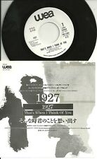 """1927 - That´s when I think of you  JAPAN 7"""" PROMO only    Frost & Weidemann"""