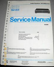 Philips 70 FV290 /00R /05R Audio Equalizer Service Manual