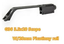 Sports 3.5X20 G36 Long Scope For MP5 Metal Sight Weaver Rail Scope Mount Base