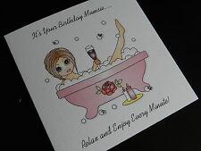 Personalised Handmade Birthday Card - Mum Best Friend Sister Daughter 30 40 50