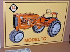 A-C Allis-Chalmers -- TRACTOR SIGN -- Shows Detail of an OLD ORANGE FARM TRACTOR