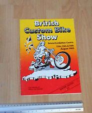 Bristol Exhibition Centre 1983 Bristish Custome Bike Show Program