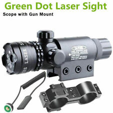 Green dot Laser Sight Scope Tactical Pressure Switch Rail Mount Light Gun Rifle