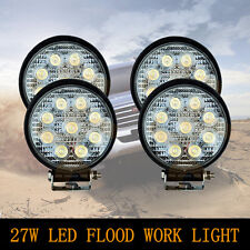 27W LED Round Work Driving Light  Bar Lamp Flood Boat Offroad SUV JEEP - 4PCS