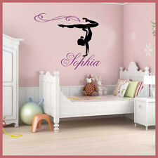 Wall Stickers custom Girl Name Gymnast Gymnastics Dance decal decor Nursery