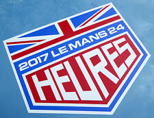 LE MANS 24 HOURS 2017 PAIR of stickers decals UNION JACK 150m wide easy apply