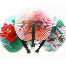 2PCS Paper Folding China Oriental Floral Hand Fans Party Favours Table Favor UK