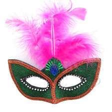 New Feather Soft Mardi Masquerade Carnival Ball Eye Mask Women Men Fancy Dress