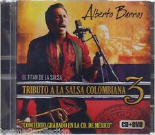 SEALED - Alberto Barros CD NEW Tributo A La Salsa 3 CD+DVD El Titan De La Salsa