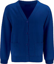 NEW SCHOOL CARDIGAN BLUE MAX KIDS BOYS GIRLS COTTON UNIFORM SWEATSHIRT ALL SIZES