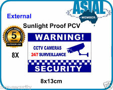 8 sticker CCTV Camera security Warning sign Notice weatherproof PVC