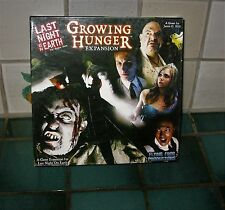 LAST NIGHT ON EARTH GAME  GROWING HUNGER EXPANSION (COMPLETE/UNPLAYED)