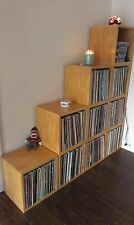 FREE SHIP Vinyl Record Storage and LP Album Cube, Natural by Way Basics