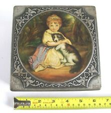 THORNE'S PREMIER TOFFEE TIN, JOSHUA REYNOLDS PICTURE LID, MADE IN ENGLAND