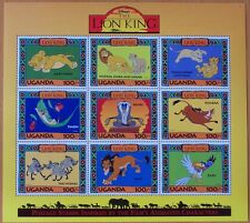 3 X DISNEY- THE LION KING -9 STAMP MINT SHEET.