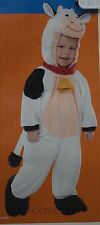 Halloween Infant White & Black Cow Jumpsuit Costume Size 6-12 months NWT