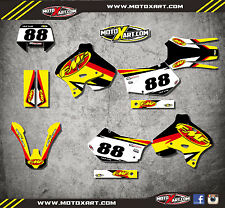 Suzuki RMX 250S 1996 2001 Full custom sticker kit THERMAL Style decals graphics