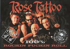 Rose Tatoo Autogramme signed 15x21 cm Flyer