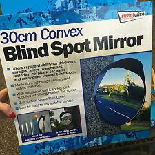 SW 30cm extérieure, garage, driveway convexe sécurité & blind spot bend mirror-black