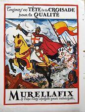 CREPE MOUSSE MURELLAFIX PUBLICITE couleurs 1948 32x23 BAS Gui haute couture